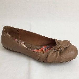 Born | Nude Leather Bow Flats
